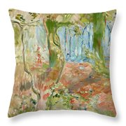 Undergrowth In Autumn Throw Pillow
