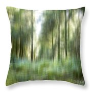 Undergrowth In Spring.  Throw Pillow by Bernard Jaubert