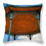 Underneath A French Gazebo Throw Pillow