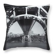 Underneath The George Washington Bridge Iv Throw Pillow