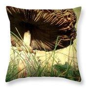 Underneath The Mushroom Throw Pillow