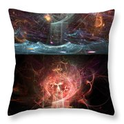 Undersea Angels Red Throw Pillow