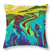 Undersea Shadows Throw Pillow