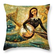 Undersea Throw Pillow by Shijun Munns