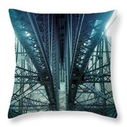 Underside Of A Bridge, Hudson Valley Throw Pillow