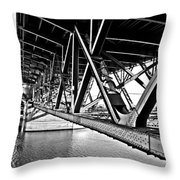 Underside Of The Burnside Bridge Throw Pillow