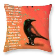 Understanding Corvus Throw Pillow