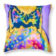 Understated Owl Throw Pillow