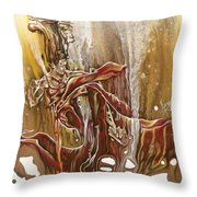 Undertake Throw Pillow by Karina Llergo