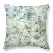 Underwater Abstract Throw Pillow