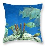 Underwater Beauty Throw Pillow