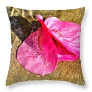 Underwater Bubbles On Petal Throw Pillow