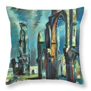 Underwater Cathedral By Chris Throw Pillow