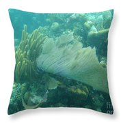 Underwater Forest Throw Pillow by Adam Jewell
