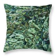Underwater Rocks - Adriatic Sea Throw Pillow