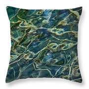 Underwater Roots Throw Pillow