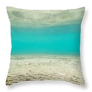 Underwater Sand Beach Throw Pillow