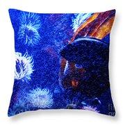 Underwater Swarm Throw Pillow