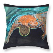 Underwater Swimmer. Part II     Throw Pillow