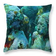 Underwater Tourists Throw Pillow