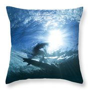 Surfing Into The Eye Throw Pillow
