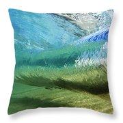 Underwater Wave Curl Throw Pillow