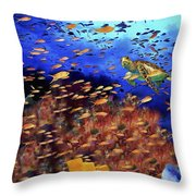 Underwater Wonderland Throw Pillow