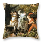 Undine And The Wood Demons Throw Pillow