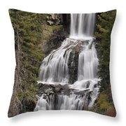 Undine Falls Throw Pillow