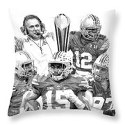 Undisputed Champions Throw Pillow