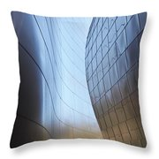 Undulating Steel Throw Pillow