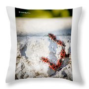 Une Ascension Difficile . Hard Climbing  Throw Pillow
