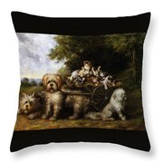 Une Tournee En Provence Throw Pillow