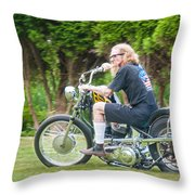 Uneasy Rider Throw Pillow