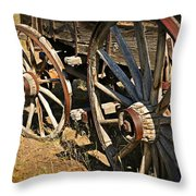Unequal Wheels Throw Pillow