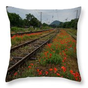 Unexpected Garden Throw Pillow