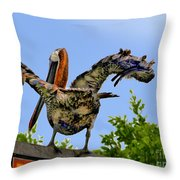 Unexpected Moon In The Galapagos Throw Pillow