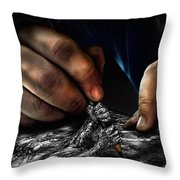 Unfinished Throw Pillow by Alessandro Della Pietra