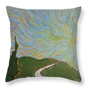 Unfinished Day Throw Pillow