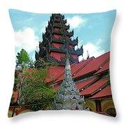 Unfinished Temple In Tachilek-burma Throw Pillow