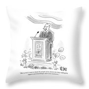 Unflagging Support And Disturbingly Short Term Throw Pillow