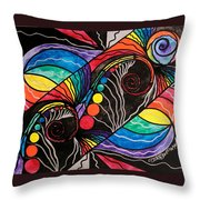 Unfold Throw Pillow by Teal Eye  Print Store