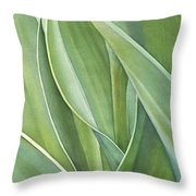 Unfolding Tulip Leaves Throw Pillow