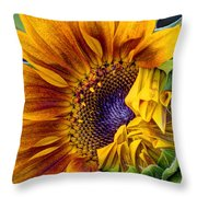 Unfurling Beauty - Cropped Version Throw Pillow