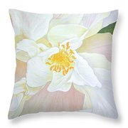 Unfurling White Hibiscus Throw Pillow