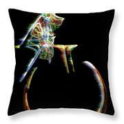 Unicyclone Throw Pillow