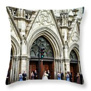 Uninvited But Welcome Throw Pillow