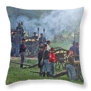 Union Artillery Battery Throw Pillow