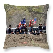 Union Artillery Embankment Throw Pillow