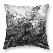 Union Charge At The Battle Of Gettysburg Throw Pillow